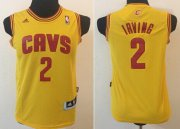 Cheap Cleveland Cavaliers #2 Kyrie Irving Yellow Kids Jersey