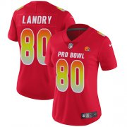 Wholesale Cheap Nike Browns #80 Jarvis Landry Red Women's Stitched NFL Limited AFC 2019 Pro Bowl Jersey
