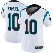 Wholesale Cheap Nike Panthers #10 Curtis Samuel White Women's Stitched NFL Vapor Untouchable Limited Jersey
