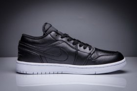 Wholesale Cheap Mens Jordan 1 Low Shoes Black/White