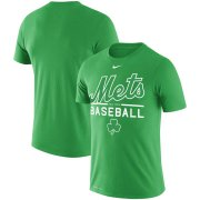 Wholesale Cheap New York Mets Nike Wordmark Practice Performance T-Shirt Green