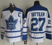 Wholesale Maple Leafs #27 Darryl Sittler White CCM Throwback Winter Classic Stitched NHL Jersey