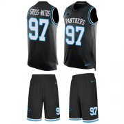 Wholesale Cheap Nike Panthers #97 Yetur Gross-Matos Black Team Color Men's Stitched NFL Limited Tank Top Suit Jersey
