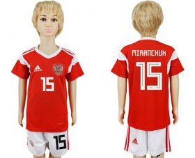Wholesale Cheap Russia #15 Miranchuk Home Kid Soccer Country Jersey