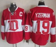 Wholesale Cheap Red Wings #19 Steve Yzerman Red Winter Classic CCM Throwback Stitched NHL Jersey
