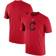 Wholesale Cheap Cleveland Indians Nike Batting Practice Team Logo Legend Performance T-Shirt Red