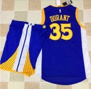 Wholesale Cheap Warriors #35 Kevin Durant Blue A Set Stitched NBA Jersey
