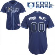 Wholesale Cheap Rays Customized Authentic Blue Cool Base MLB Jersey (S-3XL)