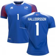 Wholesale Cheap Iceland #1 Halldorsson Home Soccer Country Jersey