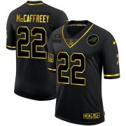 Wholesale Cheap Men's Carolina Panthers #22 Christian McCaffrey Black Gold 2020 Salute To Service Stitched NFL Nike Limited Jersey
