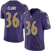 Wholesale Cheap Nike Ravens #36 Chuck Clark Purple Men's Stitched NFL Limited Rush Jersey