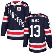 Wholesale Cheap Adidas Rangers #13 Kevin Hayes Navy Blue Authentic 2018 Winter Classic Stitched Youth NHL Jersey