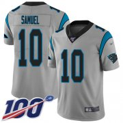 Wholesale Cheap Nike Panthers #10 Curtis Samuel Silver Men's Stitched NFL Limited Inverted Legend 100th Season Jersey