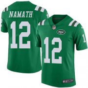 Wholesale Cheap Nike Jets #12 Joe Namath Green Youth Stitched NFL Limited Rush Jersey