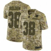 Wholesale Cheap Nike Dolphins #38 Brandon Bolden Camo Men's Stitched NFL Limited 2018 Salute To Service Jersey