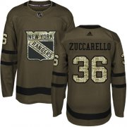 Wholesale Cheap Adidas Rangers #36 Mats Zuccarello Green Salute to Service Stitched NHL Jersey