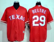 Wholesale Cheap Rangers #29 Adrian Beltre Red New Cool Base Stitched MLB Jersey