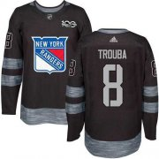 Wholesale Cheap Adidas Rangers #8 Jacob Trouba Black 1917-2017 100th Anniversary Stitched NHL Jersey