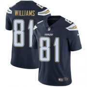 Wholesale Cheap Nike Chargers #81 Mike Williams Navy Blue Team Color Men's Stitched NFL Vapor Untouchable Limited Jersey