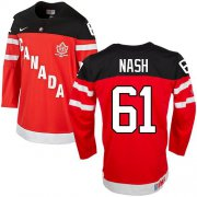 Wholesale Cheap Olympic CA. #61 Rick Nash Red 100th Anniversary Stitched NHL Jersey