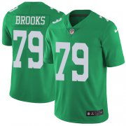 Wholesale Cheap Nike Eagles #79 Brandon Brooks Green Youth Stitched NFL Limited Rush Jersey