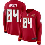 Wholesale Cheap Nike Buccaneers #84 Cameron Brate Red Team Color Women's Stitched NFL Limited Therma Long Sleeve Jersey