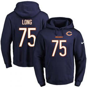 Wholesale Cheap Nike Bears #75 Kyle Long Navy Blue Name & Number Pullover NFL Hoodie