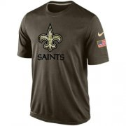 Wholesale Cheap Men's New Orleans Saints Salute To Service Nike Dri-FIT T-Shirt