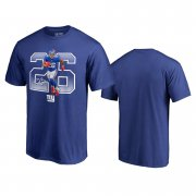 Wholesale Cheap New York Giants #26 Saquon Barkley Royal Men's Player Graphic Powerhouse T-Shirt