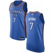 Wholesale Cheap Nike Oklahoma City Thunder #7 Carmelo Anthony Blue NBA Authentic Icon Edition Jersey