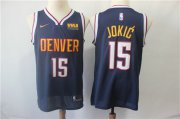 Wholesale Cheap Men's Denver Nuggets #15 Nikola Jokic Nike Navy blue Swingman Jersey