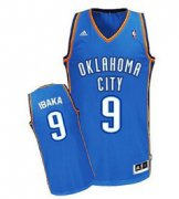 Wholesale Cheap Oklahoma City Thunder #9 Serge Ibaka Blue Swingman Jersey