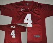 Wholesale Cheap Alabama Crimson Tide #4 Marquis Maze Red Jersey