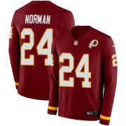 Wholesale Cheap Nike Redskins #24 Josh Norman Burgundy Red Team Color Men's Stitched NFL Limited Therma Long Sleeve Jersey