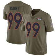 Wholesale Cheap Nike Broncos #99 Jurrell Casey Olive Men's Stitched NFL Limited 2017 Salute To Service Jersey