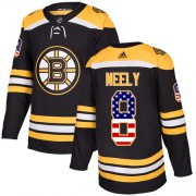 Wholesale Cheap Adidas Bruins #8 Cam Neely Black Home Authentic USA Flag Stitched NHL Jersey