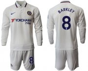 Wholesale Cheap Chelsea #8 Barkley Away Long Sleeves Soccer Club Jersey