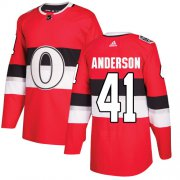 Wholesale Cheap Adidas Senators #41 Craig Anderson Red Authentic 2017 100 Classic Stitched Youth NHL Jersey