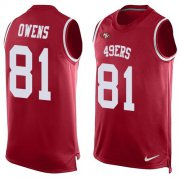 Wholesale Cheap Nike 49ers #81 Terrell Owens Red Team Color Men's Stitched NFL Limited Tank Top Jersey