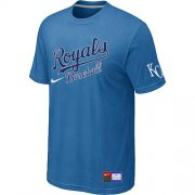 Wholesale Cheap MLB Kansas City Royals Light Blue Nike Short Sleeve Practice T-Shirt