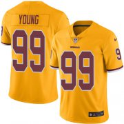 Wholesale Cheap Nike Redskins #99 Chase Young Gold Men's Stitched NFL Limited Rush Jersey