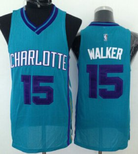 Wholesale Cheap Charlotte Hornets #15 Kemba Walker Green Swingman Jersey