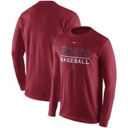 Wholesale Cheap Los Angeles Angels Nike Practice Long Sleeve T-Shirt Red