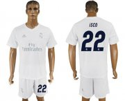 Wholesale Cheap Real Madrid #22 Isco Marine Environmental Protection Home Soccer Club Jersey