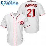 Wholesale Cheap Reds #21 Michael Lorenzen White Cool Base Stitched Youth MLB Jersey