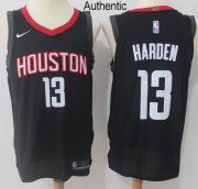 Wholesale Cheap Nike Houston Rockets #13 James Harden Black NBA Authentic Statement Edition Jersey