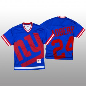 Wholesale Cheap NFL New York Giants #24 James Bradberry Blue Men\'s Mitchell & Nell Big Face Fashion Limited NFL Jersey