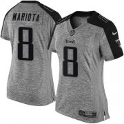 Wholesale Cheap Nike Titans #8 Marcus Mariota Gray Women's Stitched NFL Limited Gridiron Gray Jersey