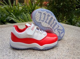 Wholesale Cheap Kids Air Jordan 11 Low Shoes Red/White