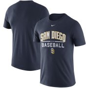 Wholesale Cheap San Diego Padres Nike Away Practice T-Shirt Navy